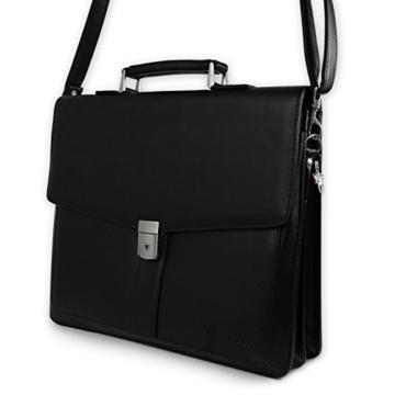 Bag Street Aktentasche Herren schwarz Kunstleder-Aktentasche Aktenkoffer Bürotasche mit Fee-Anhänger von SilberDream OTJ117S - 2