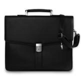 Bag Street Aktentasche Herren schwarz Kunstleder-Aktentasche Aktenkoffer Bürotasche mit Fee-Anhänger von SilberDream OTJ117S - 1