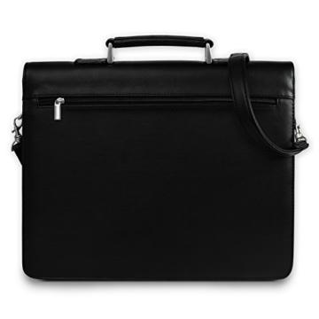 Bag Street Aktentasche Herren schwarz Kunstleder-Aktentasche Aktenkoffer Bürotasche mit Fee-Anhänger von SilberDream OTJ117S - 4