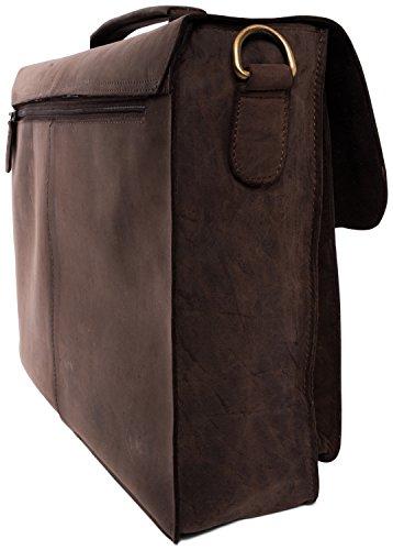 LEABAGS Scottdale Aktentasche aus echtem Büffel-Leder im Vintage Look - Muskat - 3