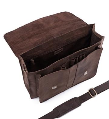 LEABAGS Scottdale Aktentasche aus echtem Büffel-Leder im Vintage Look - Muskat - 4
