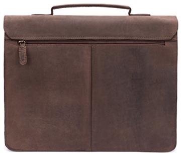 LEABAGS Scottdale Aktentasche aus echtem Büffel-Leder im Vintage Look - Muskat - 8