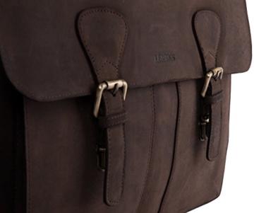 LEABAGS Scottdale Aktentasche aus echtem Büffel-Leder im Vintage Look - Muskat - 9