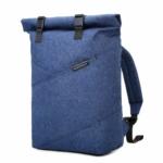 BAGSMART Roll-Top Rucksack blau