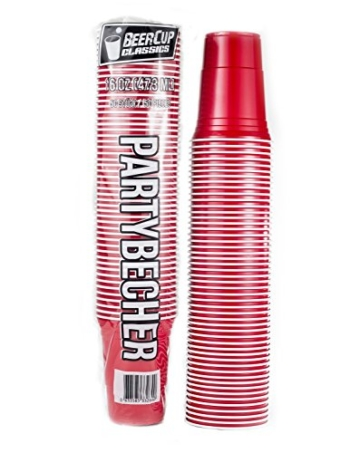 Beer Pong Becher - Rote Partybecher Red Cup