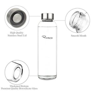 Ryaco Glasflasche Trinkflasche Classic 550ml